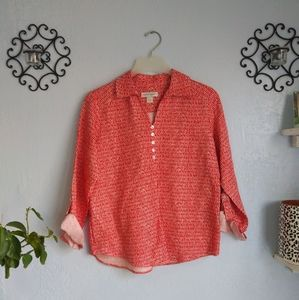 WOMENS CHRISTOPHER & BANKS RED BLOUSE TOP SZ small